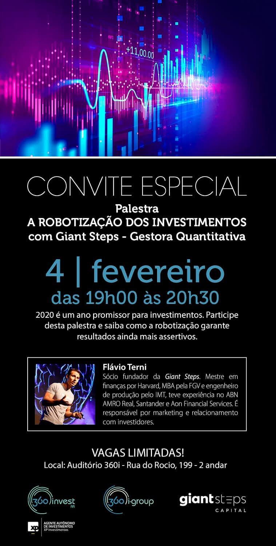 CONVITE ESPECIAL ROBOTIZACAO INVESTIMENTOS