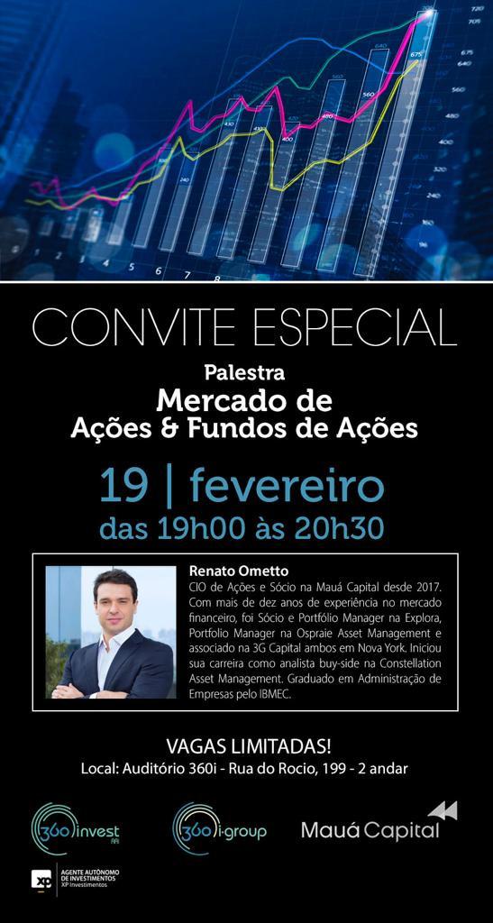 CONVITE ESPECIAL MERCADO E FUNDOS DE AÇÕES