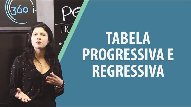 Tabela Progressiva e Regressiva