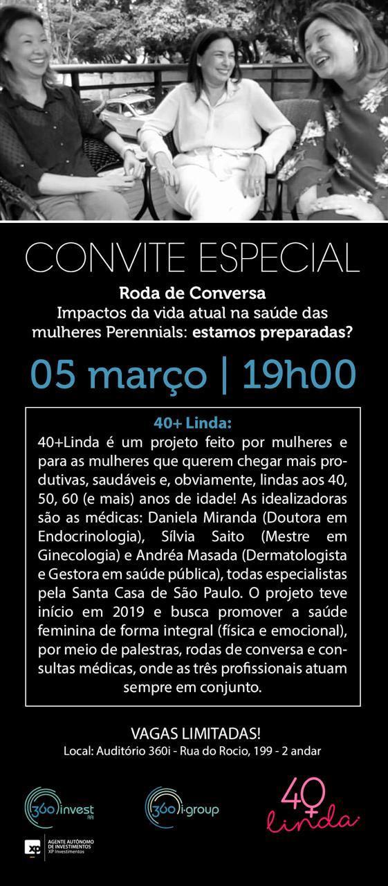 RODA DE CONVERSA 40+LINDA